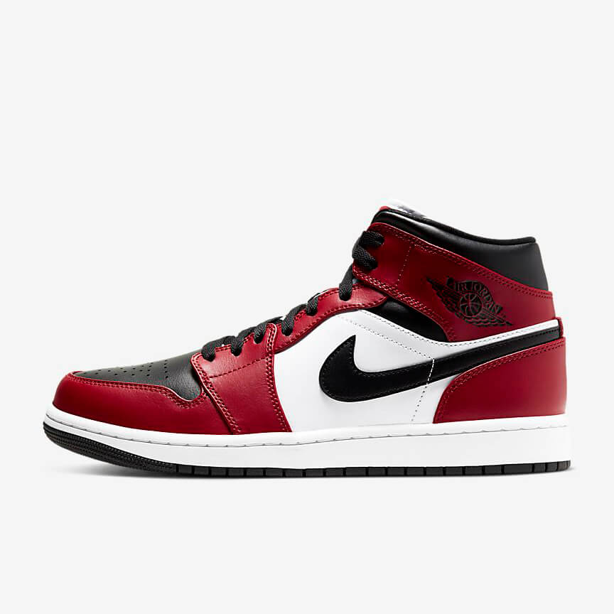 Chaussures Nike Air Jordan 1 Mid Chicago Toe France