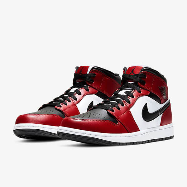 Chaussures Nike Air Jordan 1 Mid Chicago Toe France Femme Homme