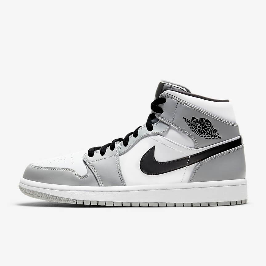 Chaussures Nike Air Jordan 1 Mid Light Smoke Grey France