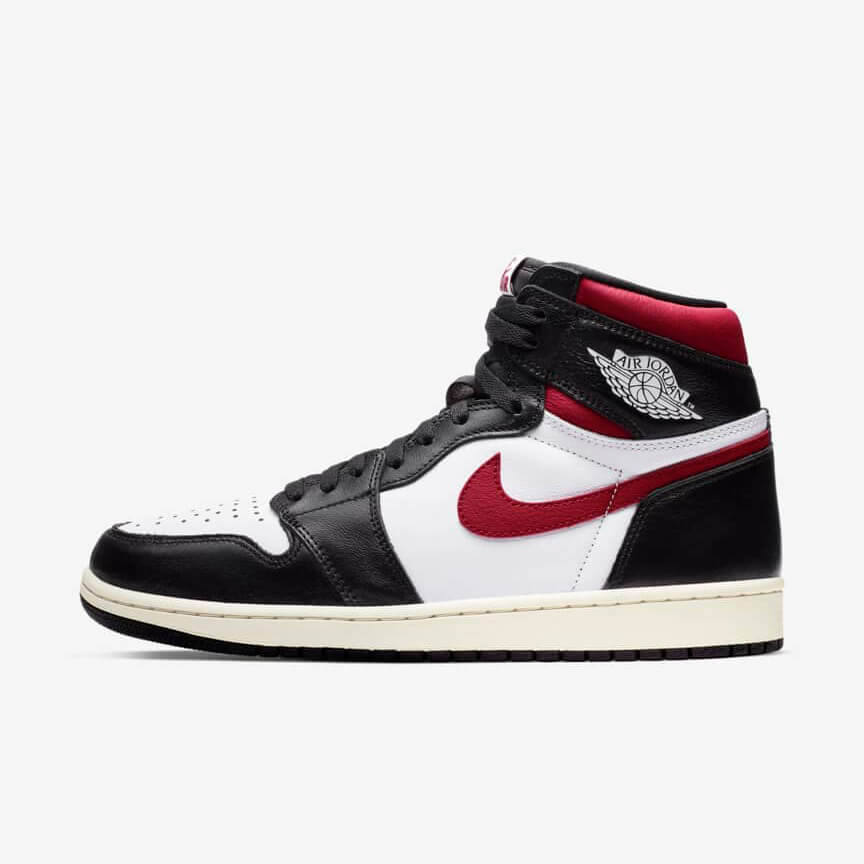 Chaussures Nike Air Jordan 1 Retro High Black Gym Red Pas Cher Noir Rouge Femme Homme