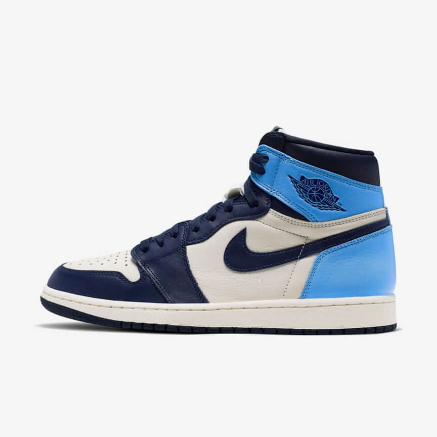 Chaussures Nike Air Jordan 1 Retro High Obsidian Unc France