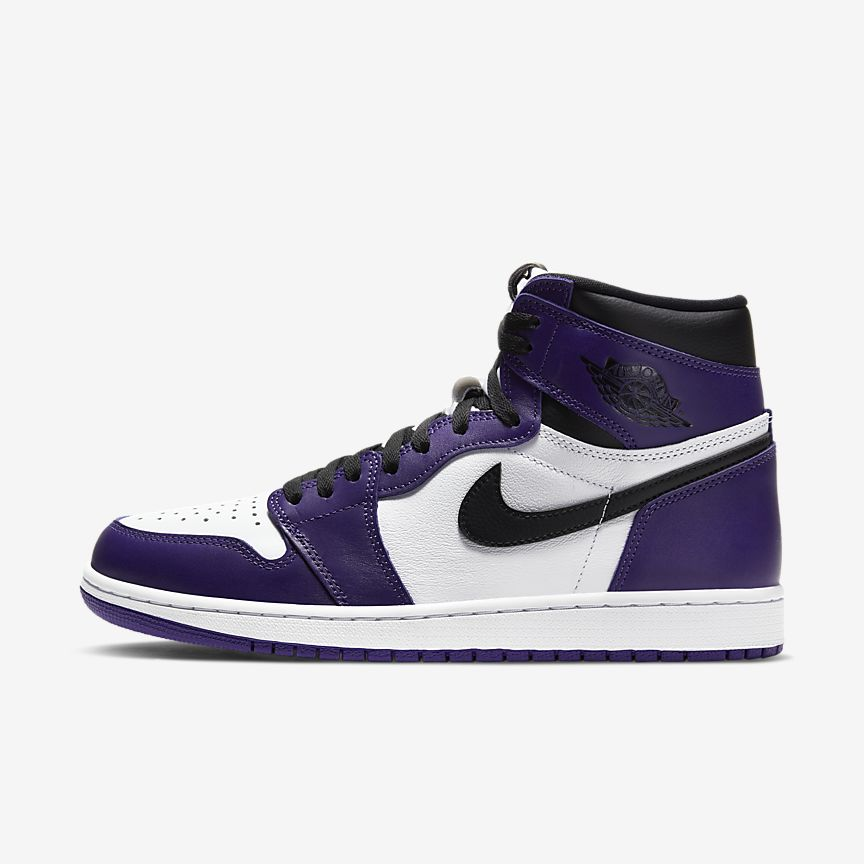 Chaussures Nike Air Jordan 1 Retro High Court Purple White France
