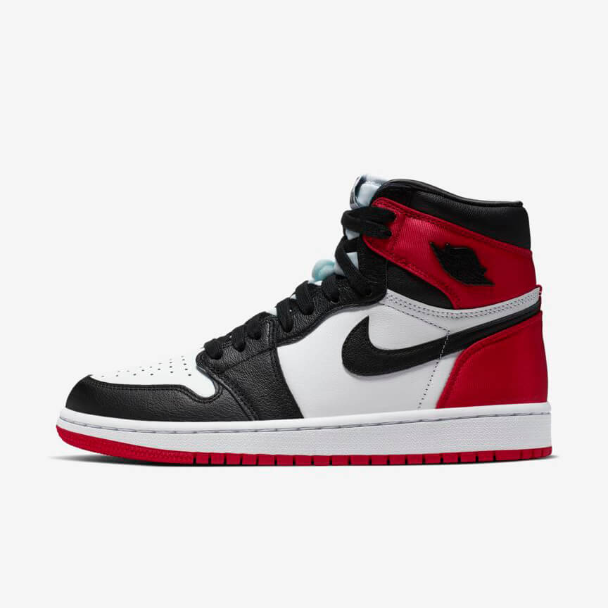 Chaussures Nike Air Jordan 1 Retro High Satin Black Toe France