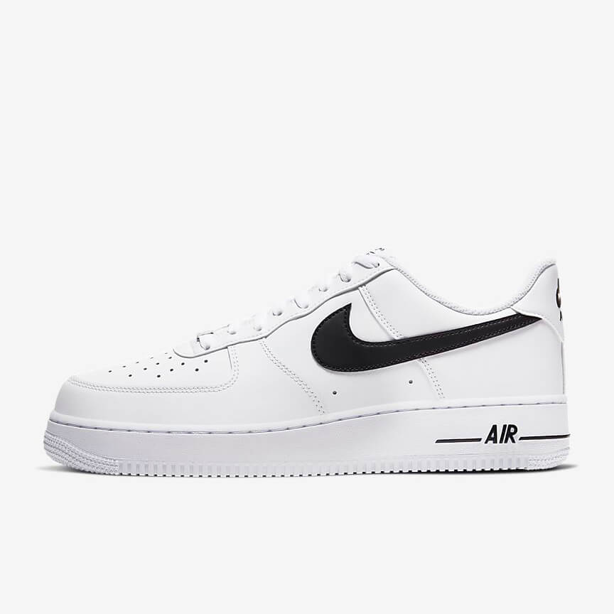 Chaussures Nike Air Force 1 07 Low Blanche Noir France