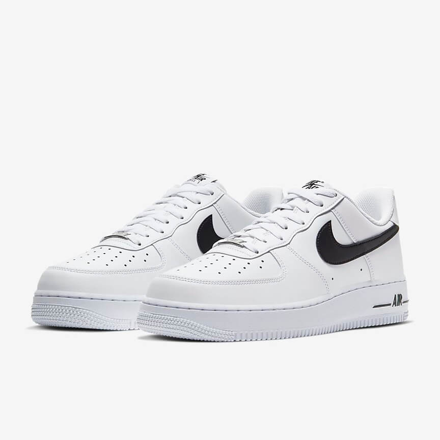 Chaussures Nike Air Force 1 07 Promo Low Blanche Noir Femme Homme