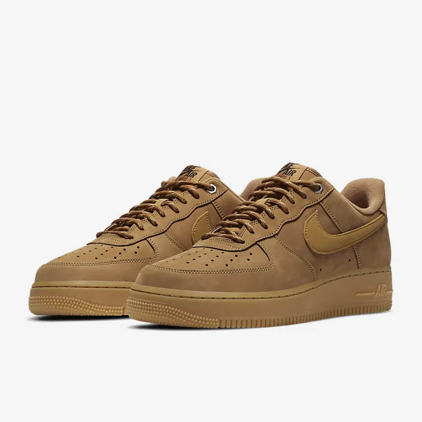 Chaussures Nike Air Force 1 07 Wb Pas Cher Low Flax Brun Femme Homme