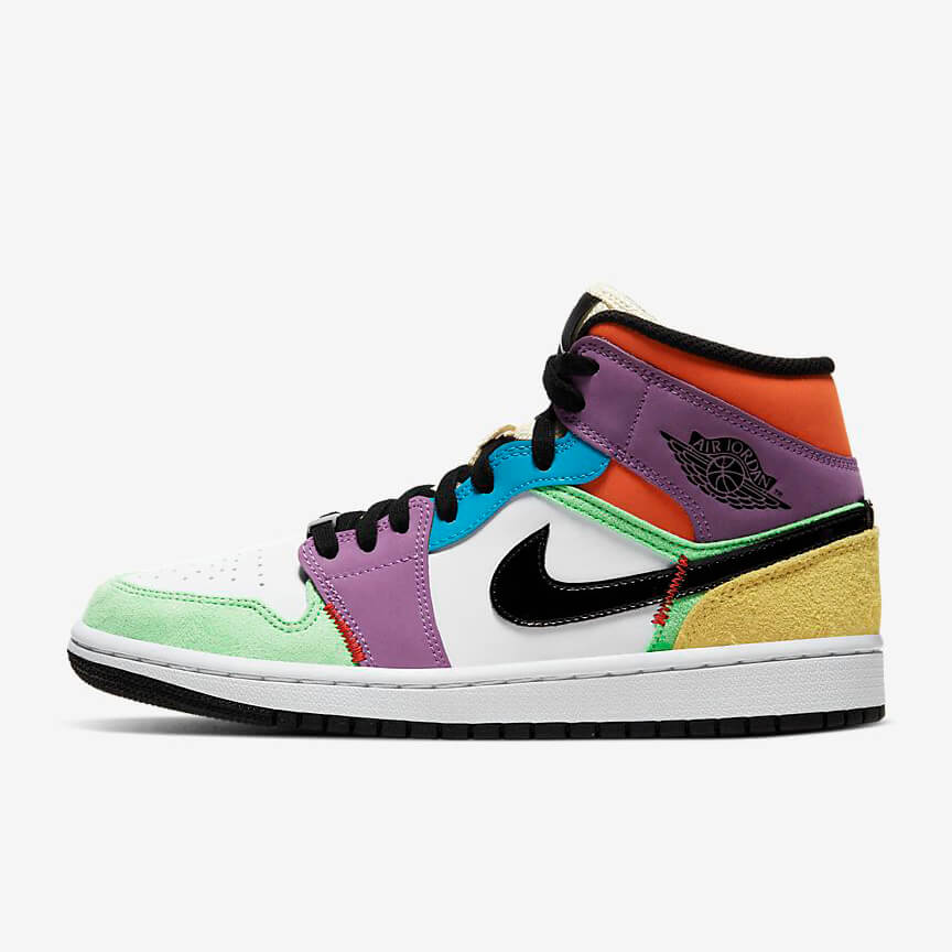 Chaussures Nike Air Jordan 1 Mid Se Multicolor France