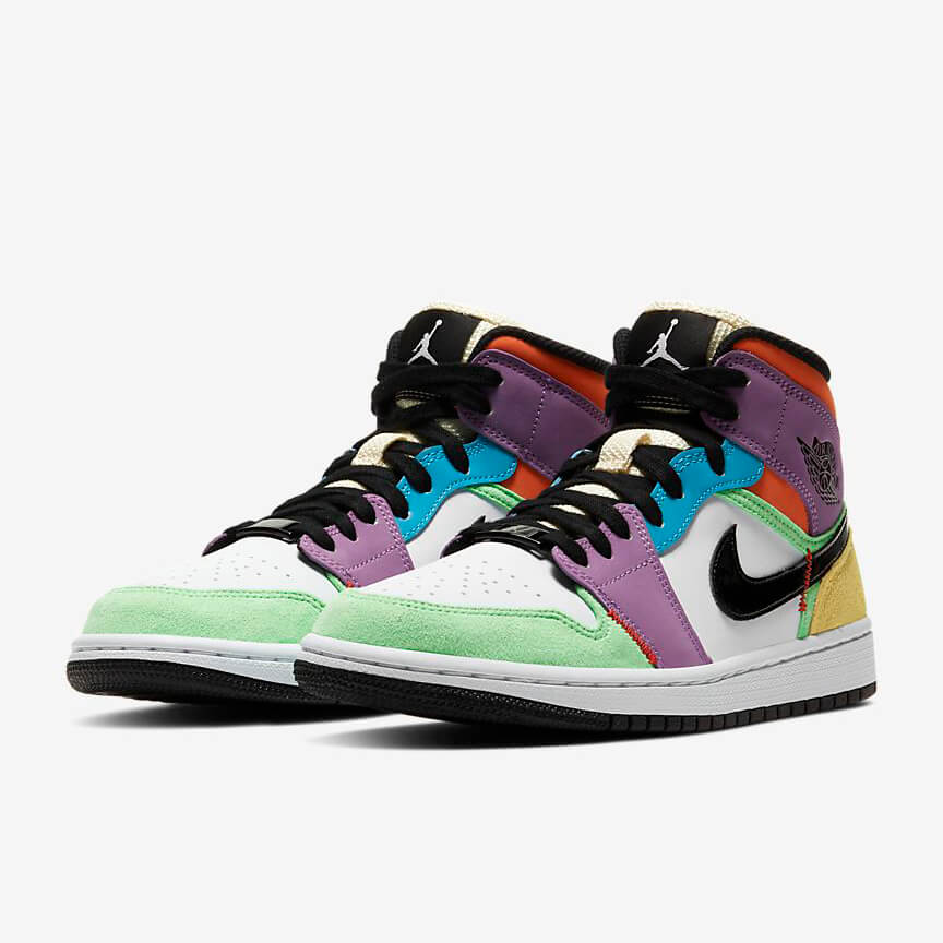 Chaussures Nike Air Jordan 1 Mid Se Multicolor France Femme Homme
