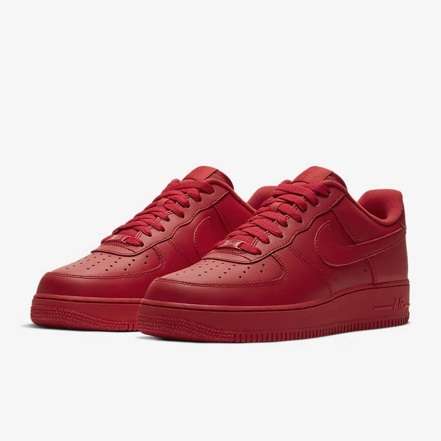 Chaussures Nike Air Force 1 07 Lv8 1 France Low Rouge Femme Homme